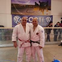 Da destra Andrea Dimattia e il suo maestro Renato Venturini