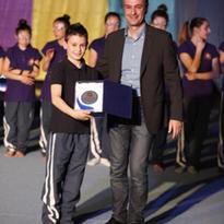 Premiazione di fine anno sportivo 2013/2014. Emmanuele Ercolani miglior classificato nel torneo allievi.
