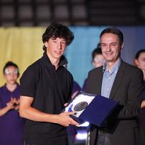 Premiazione di fine anno sportivo 2013/2014. Lorenzo Guglielmi miglior classificato nel campionato di specialità