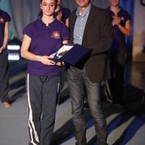 Premiazione di fine anno sportivo 2013/2014. Aurora Cocco miglior classificata nel campionato di categoria J/S