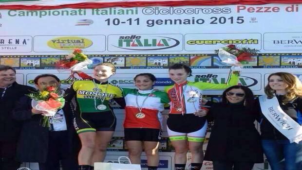 Campionati italiani di ciclocross 2015 - Vittoria di Alessandra Grillo nelle Donne Esordienti 2° anno