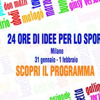 24 ore di idee per lo sport: il programma definitivo