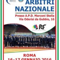 CORSO ARBITRI NAZIONALE 16-17 Gennaio 2016 Roma