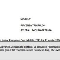 Convocazione Etu Junior Cup