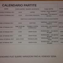 calendario gare 18-19 febbraio