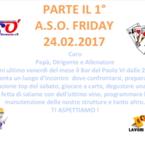 Aso Friday: nuovo appuntamento!