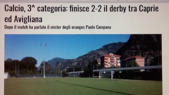 ARTICOLO partita Caprie Avigliana – Terza Categoria