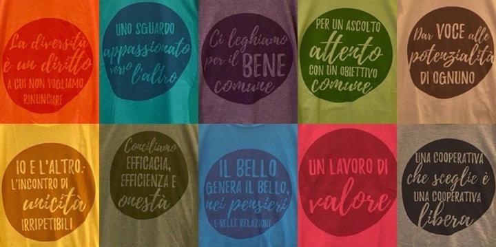 Le magliette coi valori di Cascina Biblioteca!