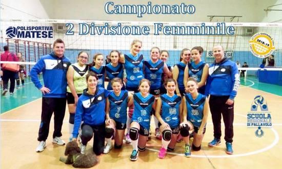 Concluso il campionato di 2ª divisione femminile