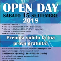 OPEN DAY – 15/09/2018