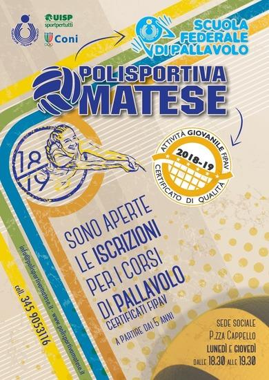 Corsi di Pallavolo - Stagione Sportiva 2018/2019