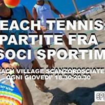 novita' per i soci: beach tennis!