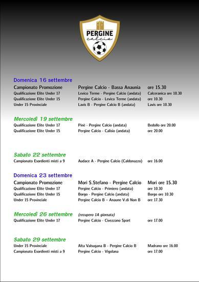 Calendario prossimi incontri