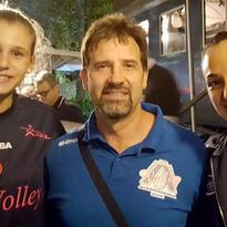 Alice Nardo con Letizia Camera in formazione nell'esordio vittorioso della IGOR NOVARA in Champions League