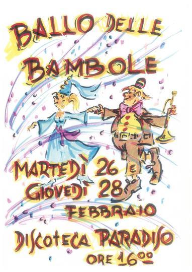 Ballo delle Bambole martedì 26 e giovedì 28 febbraio
