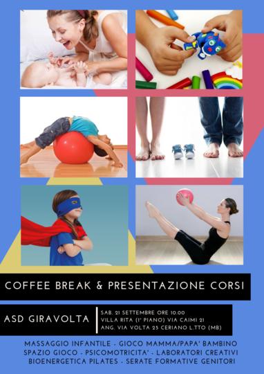 COFFEE BREAK & PRESENTAZIONE CORSI 2019-2020