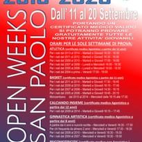 Open Weeks 2019