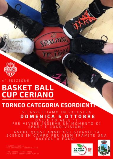 4°edizione BASKET BALL CUP CERIANO 2019